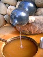 Reddish-Brown Waters Typical of Arima Onsen