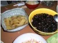 Herring Roe and Black Beans