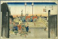 Hiroshige Nipponbashi Ukiyoe