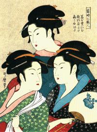 Utamaro Courtesan Ukiyoe